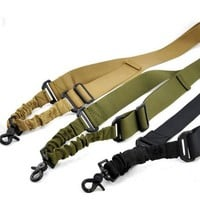 New Nylon Adjustable Multi function Tactical single point Bungee Airsoft Sling Hunting gun Strap Hunting Supplies