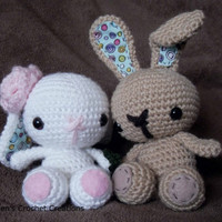 Crochet Set of Two Spring Bunnies