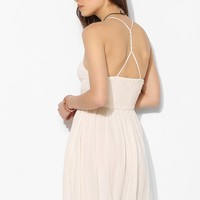 Band Of Gypsies Smocked Strappy Racerback Fit + Flare Dress - Urban Outfitters