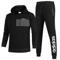 ADIDAS NEO series autumn and winter new sports and sportswear two-piece suit Black