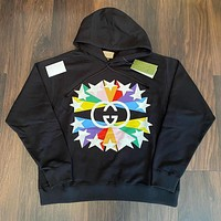 GUCCI Double g color Pentagram ⭐ Couple Hooded Sweater