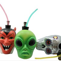 Colorful Ceramic Head Waterpipes