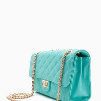 Large Lock Quilted Crossbody