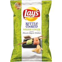 Walmart: Lay's Kettle Cooked Wasabi Ginger Potato Chips, 8.5 oz