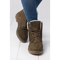 Cold Feet Ankle Boot (Olive)
