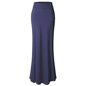 Floor Length Maxi Skirt With Stretch (CLEARANCE)