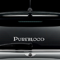 Pureblood car window decal / Sticker - Potter Inspired