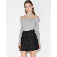 Suede Mini Brown Skate Skirts A Line Women Skirt Female Vintage Skirt Ladies Women's Clothing Femme Button Plus Size Cool