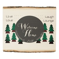 Cosy Rustic Welcome Home Sign for Couples