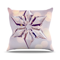 "Sylvia Cook ""Starbright"" Holiday Throw Pillow"