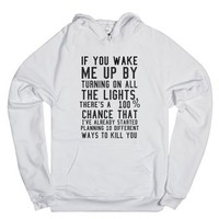 If you wake me up-Unisex White Hoodie