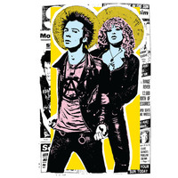 Sid and Nancy / / Art Print /Poster / Punk gift / Punk Art/ Sid Vicious / Nancy Spungen / punk / sex pistols / Punk art / punk Punk Poster
