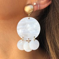 Catch My Eye Earrings: White