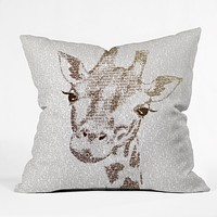 Belle13 The Intellectual Giraffe Throw Pillow