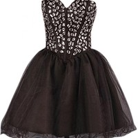 Emma Y Charming Sweetheart Mini Cocktail Dress Homecoming Gowns
