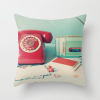 Call and request a song Throw Pillow by AC Photography
