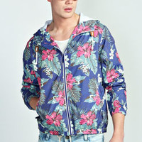 Floral Hooded Cagoule