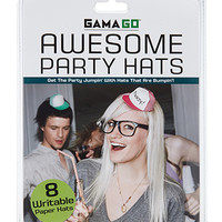 Awesome Party Hats White One