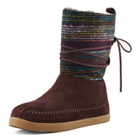 Striped Suede Nomad Boot, Brown - TOMS