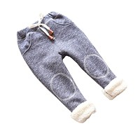 Autumn baby girls winter leggings children plus thick velvet pants casual trousers kids warm girl pants