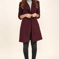 BB Dakota Forsyth Burgundy Coat