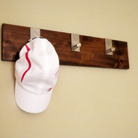 Dark Walnut Hat Rack, Coat Rack, or Jewelry organizer; Modern Home Decor; Gift for Any Occassion