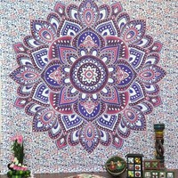 New Elephant Bohemian Wall Hanging Tapestry Mandala Bedding Bedspread Home Bedroom Decorative Textiles Beach Towel Throw Mat