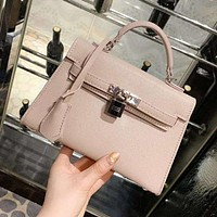 Hermes Trending Women Stylish Leather Handbag Shoulder Bag Crossbody Satchel Pink
