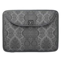 Lacy Vintage Floral in Gray Sleeves For MacBook Pro