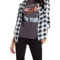 Combo Button-Up Plaid Top by Charlotte Russe