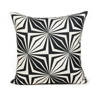 Modern Black Star Accent Throw Pillow Cover