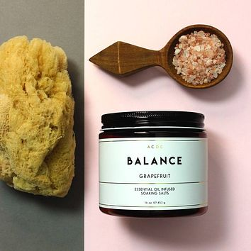 Balance Grapefruit Essential Oil Bath Soaking Salts