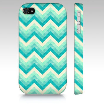 Chevron iPhone 4s case, iPhone 5 case, iPhone 5s case, colorful zigzag, trendy fashion case, geometric in mint green colors art phone case