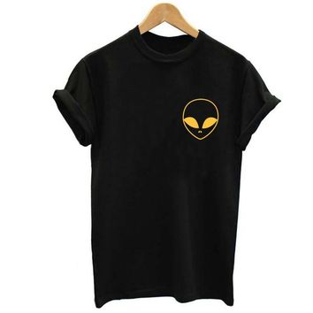 14 Colors Colorful Alien Print Cotton Casual Hipster Shirt Top Tees T-shirt(14 Colors) = 5988149185
