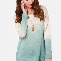 Mink Pink Melting Moments Blue Ombre Sweater