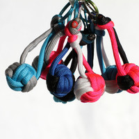 Bulk Volleyball Keychain Gift for Team, Paracord Knot, Custom Colors and Quantities