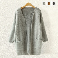 Mstyle Women'S Fashion Clothes Twist Loose Sweater Female Long Sweater = 1830061188
