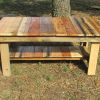 Gorgeous! Natural Wood Rustic Coffee Table, Side Table, Living Room furniture, solid wood table, reclaimed wood