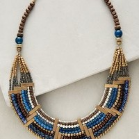 Isobel Bib Necklace by Anthropologie in Blue Motif Size: One Size Necklaces