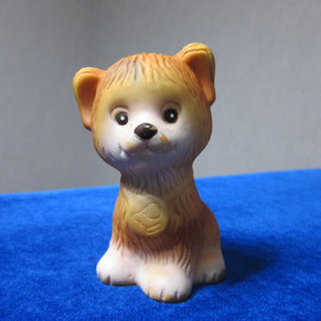 Vintage Rubber toy, USSR  Brown dog small