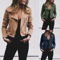 Womail jacket winter women Zipper Up jacket women jackets Women Slim Solid Outwear Parka Trench Coat Jacket 18Sep5