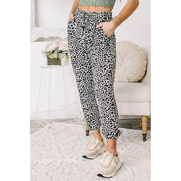 Just Loungin' Bold Cheetah Print Joggers