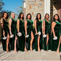 Custom Made Green Mermaid Bridesmaid Dress