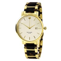 Kate Spade 1YRU0703 Women's Gramercy Grand Gold Tone Dial Steel & Plastic Bracelet Watch