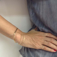 Gold Bird Bracelet, Dainty Women New accessories bracelet SH100