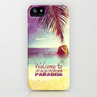 Welcome to Paradise - for iphone iPhone & iPod Case by Simone Morana Cyla