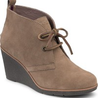 Sperry Top-Sider Harlow Suede Wedge Bootie Greige, Size 12M  Women's Shoes