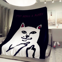RIPNDIP Lord Nermal Stop Being A Pussy 150x200cm Queen Size Bed Sofa Blanket