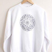 Zodiac Wheel Graphic Crewneck Sweatshirt