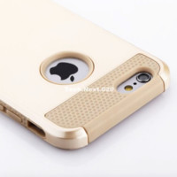 Gold iPhone 6S Case Hybrid Shockproof Hard Heavy Duty Rubber iPhone 6 S Cover